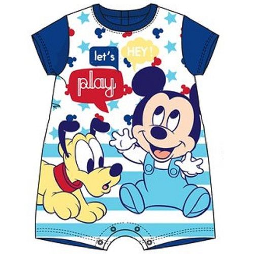 Disney Baby Mickey Mouse and Pluto Let's Play Romper Bodysuit Blue