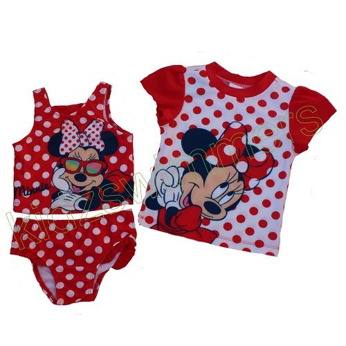 Disney Minnie Mouse Swim Set UPF 50+