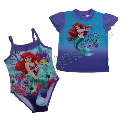 Disney Princess Ariel The Little Mermaid Swim Set UPF 50+
