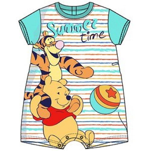 Disney Winnie The Pooh and Tigger Summer Time Romper Bodysuit Blue