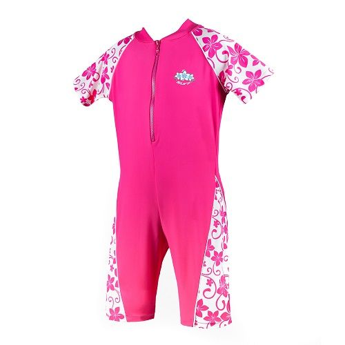 Girls Fandango Pink Sun Protection UV Sunsuit UPF 50+