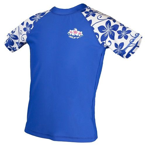 Girls Lapis Blue UV Sun Protection Rash Vest UPF 50+