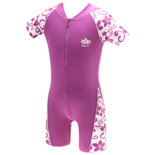 Girls Orchid Purple Sun Protection UV Sunsuit UPF 50+