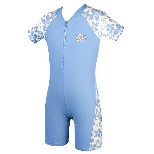 Girls Placid Blue Sun Protection UV Sunsuit UPF 50+