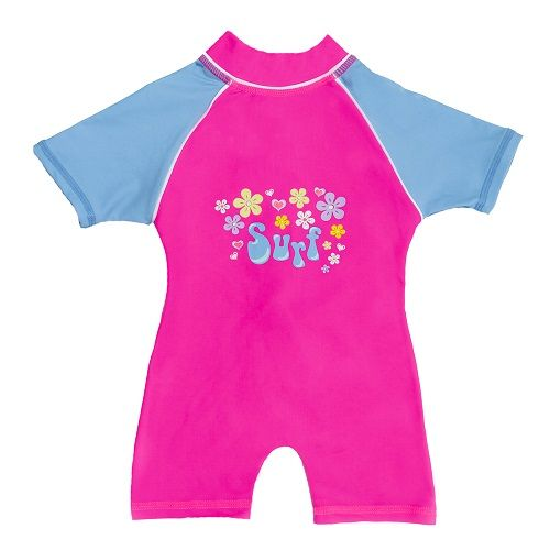 Kidz Swimmers Baby Girls Surf UV Sunsuit UPF 50+