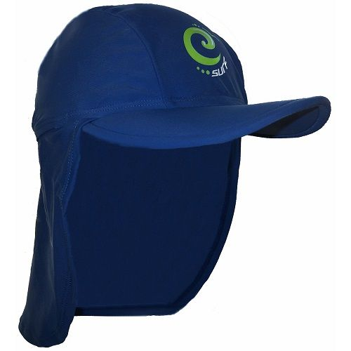 Kidz Swimmers Boys Estate Blue and Jasmine Green Surf UV Legionnaire Cap UPF 50+