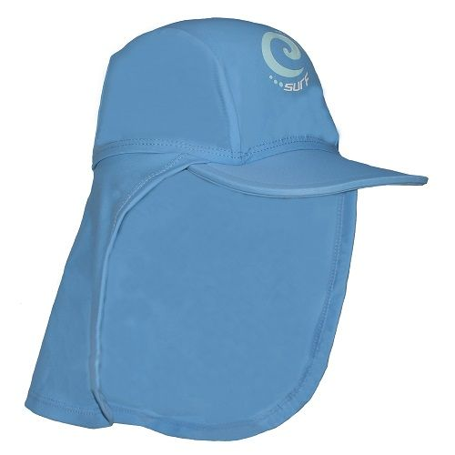 Kidz Swimmers Girls Placid Blue UV Legionnaire Cap UPF 50+