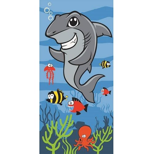 Awesome Childs Shark Beach Bath Swim Towel  70cm x 140cm