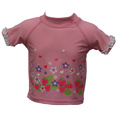 439efa7838 Baby Girls Pink UV Sun Protection Swim Top T-Shirt UPF 50