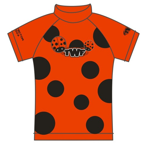 TWF Kids Ladybird UV Sun Protection Rash Vest UPF 50+