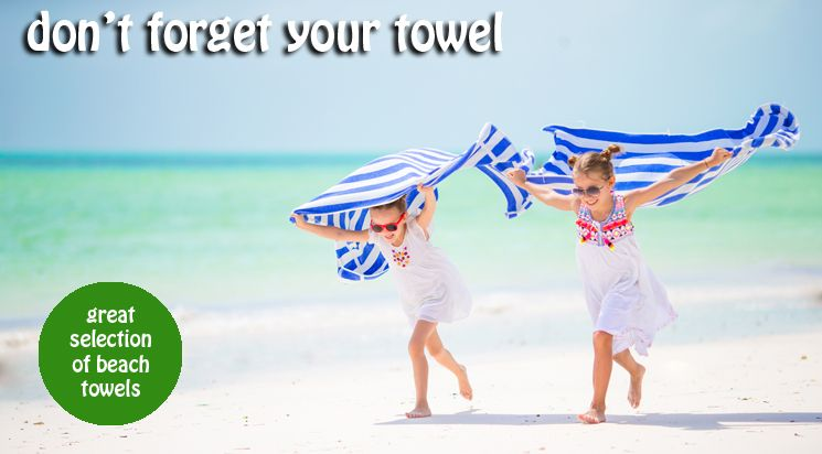 Great selection of character beach towels